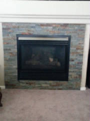 Fireplace refacing, fireplace remodel, home improvement, residential remodeling