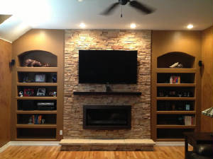 Fireplace refacing, residential remodeling, home improvement