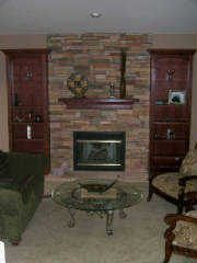 fireplace refacing, ken caryl, residential remodeling, home improvement